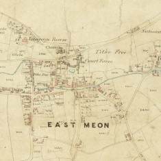 Tithe Apportionment map, 1852, accompanying a detailed audit of the population and occupancy of the parish,