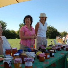 Jam_stall on The Green, Hazel Rendle, Alison Louden, Jane Brown