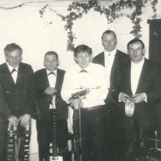 Meonaires L to R, Don Cooper, Geoff Marshall, Les Blackman, David Goddard, John Mundy