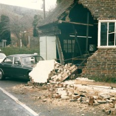 Car crash at The Forge.