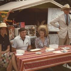 Church Fete. Rosemary Ryder, Tony Crockford, Margaret Pelly, Adrian Pelly