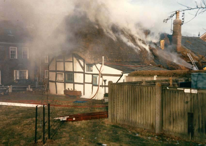 Fire at White Cottage, home of Commander Ronnie Page