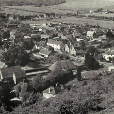 All Saints from Park Hill. No vicarage in Church Street. 1920s?