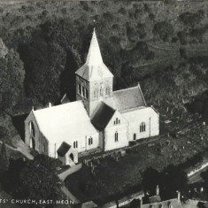 All Saints from air, PC  provided by Frank & Jenny Wheeler. Roof of nave and Lady Chapel appear new