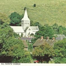 Colour PC: All Saints church from air