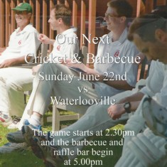 Cricket club poster