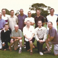 Back row, L to R. n.k., Richard Dampney, Martin James, d.k., Melvyn Dowlen. Simon Edsall, Rob Thorne. Front row, Jeff Wheeler, Geoff Blackman, Alasdair Wheeler, Peter Suart, Chris Warren.