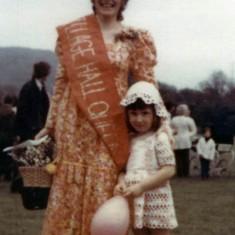 Jenny as beauty queen, 1973