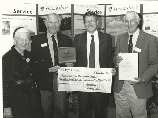 Presentation of HCC lichen award - Susan Delmar Morgan, Frank W, HCC officer, John Rendle