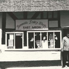 Bennetts Dairy Shop, Harold Bennett on left.