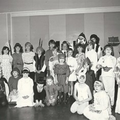 Children in fancy dress in VIllage Hall