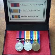Left to right, Distinguished Conduct Medal, British War Medal, Victory Medal