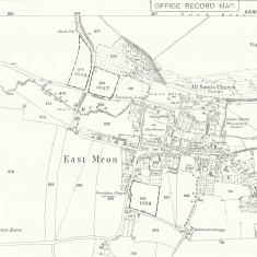 East Meon Map 1869  showing non-conformist chapels, Zoar, Providence and Primitive Methodist.