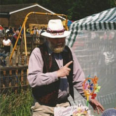 Frank Wheeler at Country Fair - he was the regular master of ceremonies.