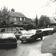 Frogmore possibly in the 1970s, showing parking problem.