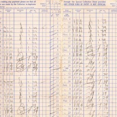 Pages of Barnards rent book