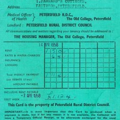 Cover of Barnards' rent book, 1958 - 9.