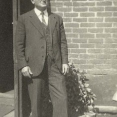 Edward Bone in later life; from 1922 he worked as a lorry driver on the Leydene Estate.