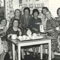 WI group with teacups