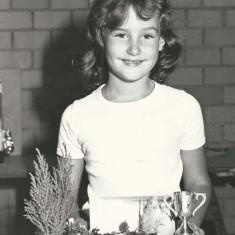 Jolene Sims winner of junior prize at Annual Show.