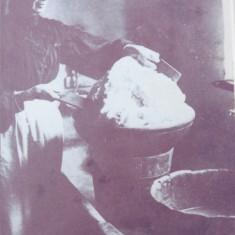 Jane Wren, working butter by hand at Riplington Farm, c 1908