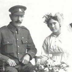 Marriage of May Christmas to Jack Barratt, October 1st 1918 web
