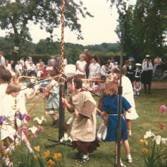 Maypole dance at Church Fete