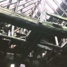 The condition of the roof of the mill when the Ryders acquired it.