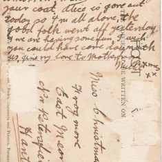 Post Card from Millie to sister, date unknown