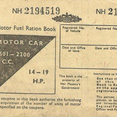 Cover of book of motor fuel coupons