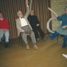 Old folk doing exercises
