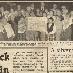 Over-60s celebrate 25th anniversary, Petersfield Post Nov 1989