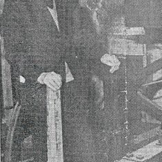 Newspaper photo of Rev Smith from Petersfield Post, 1974.