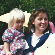 Sarah Rogerson and daughter.
