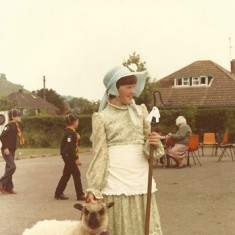 Shepherdess - fancy dress, photo by Stan Smith