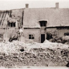 Thatching Paupers Cottages John Baker Collection