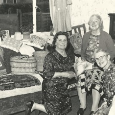 WI ladies on sofa.