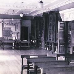 Westbury House School library with desks