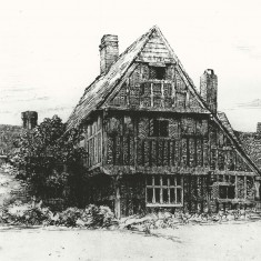 The Tudor House from the north, showing the extension (left) where Arthur Warren added his shop.