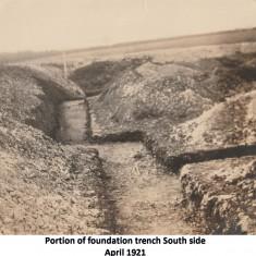 Foundation work, 1921