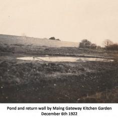 Kitchen garden, December 1922
