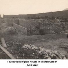 Rose garden and views of house, June 1923