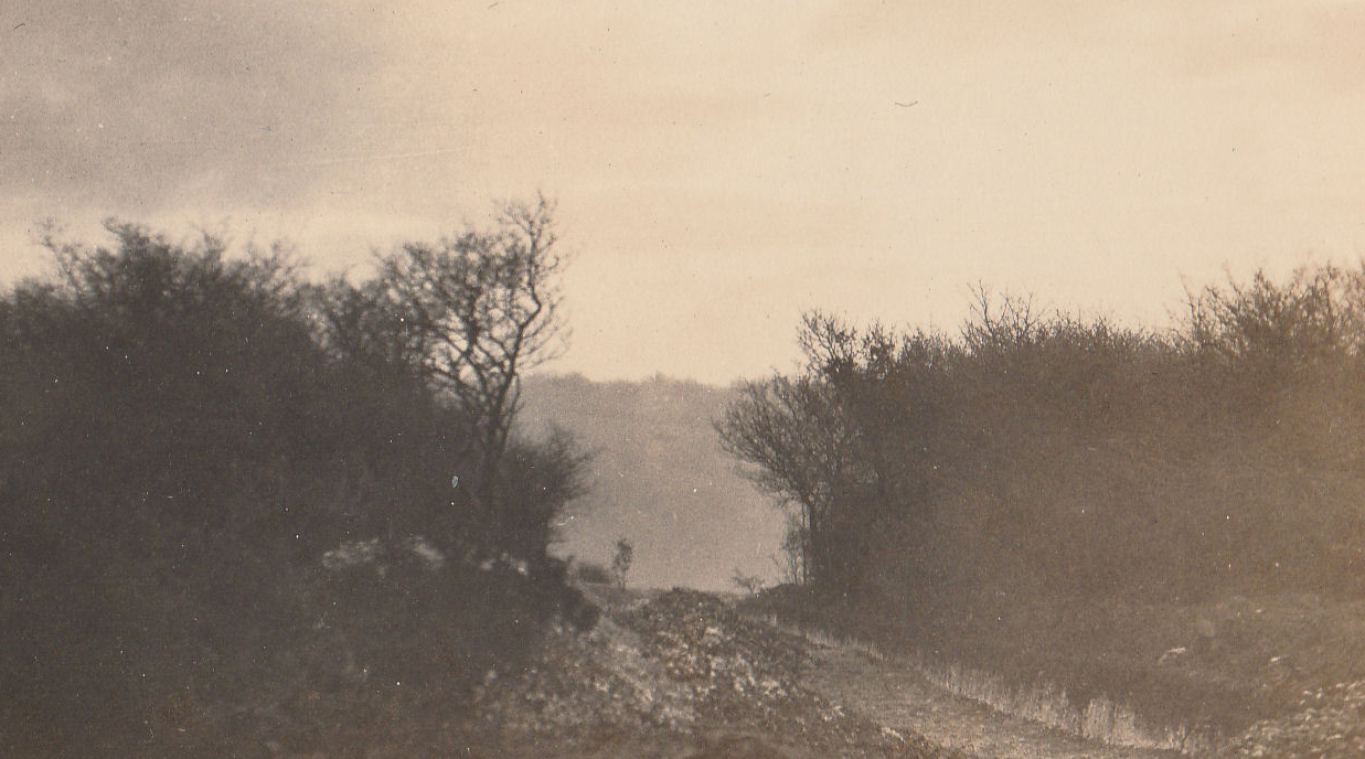 Cutting new road, March 1922
