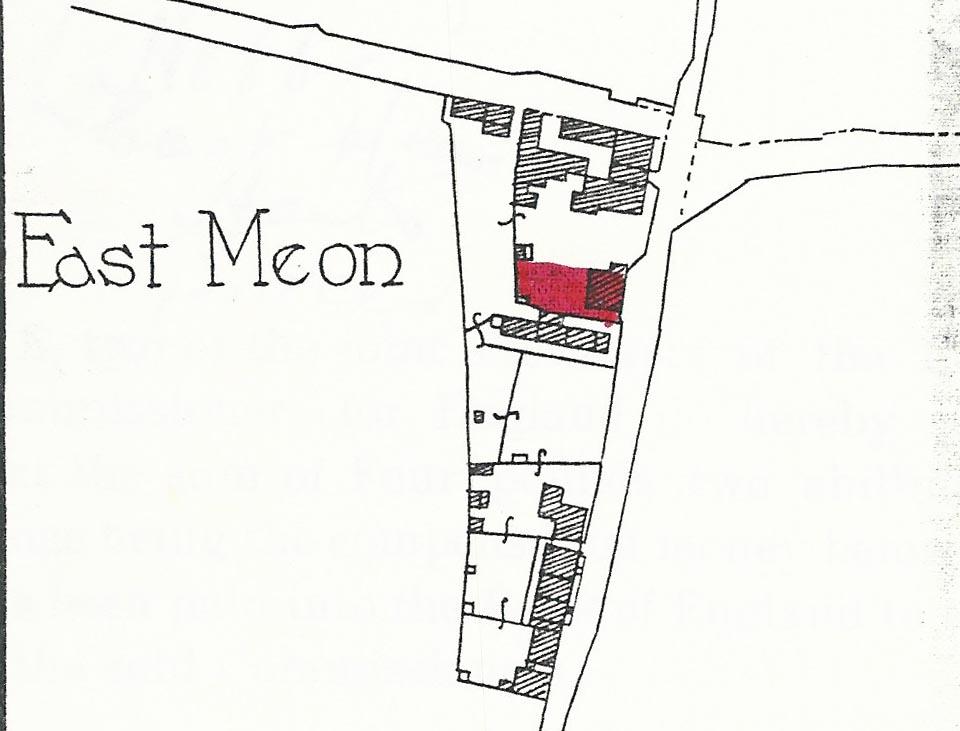 Flint Cottage site plan 1936