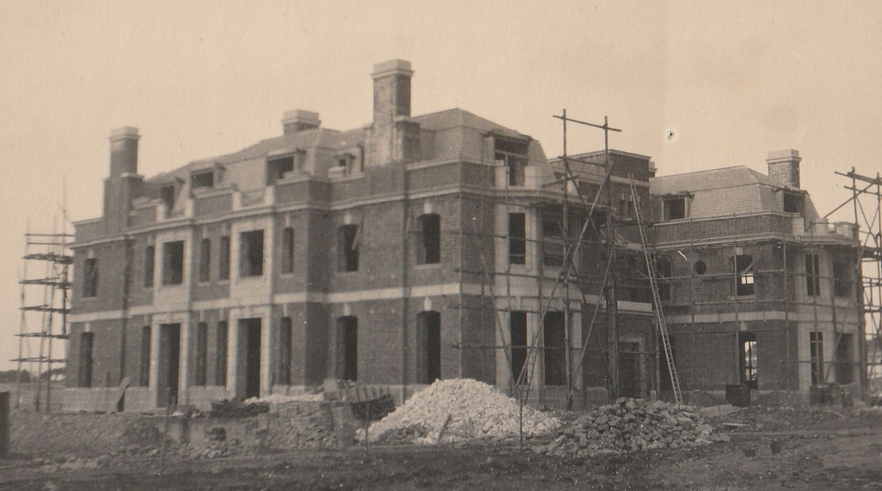 The exterior of the house in April 1923