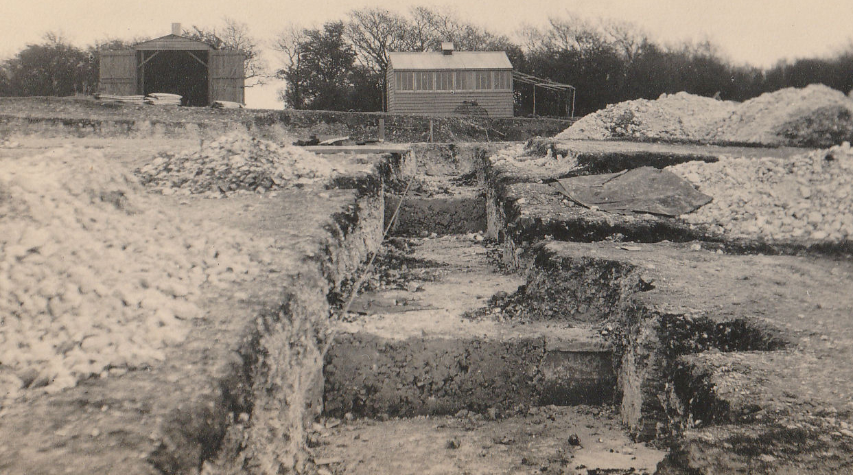 Trench on the north side, April 1921