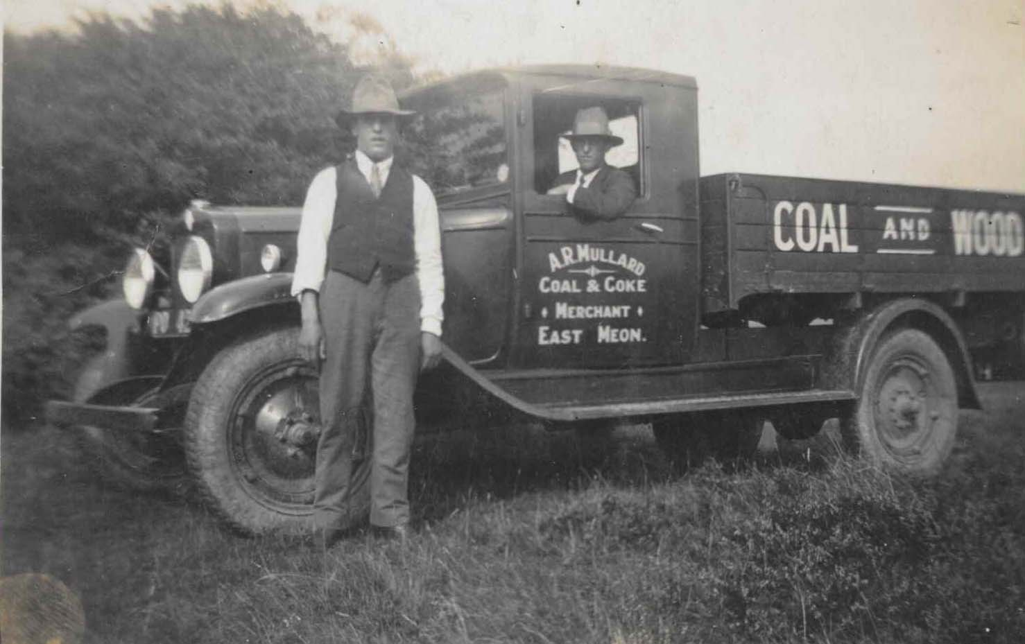 A.R.Mullard Coal and Coke delivery. The two sons and the lorry.