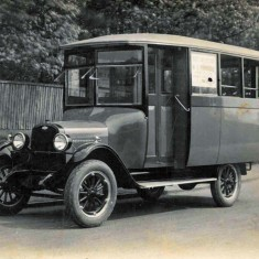 One of the two busses built on a Model T chassis, in which Albert Mullard  operated a service to Petersfield in the 1920s and 30s.