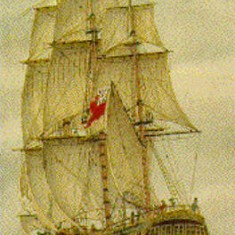 The Prince of Wales, the ship on which Tom Harmsworth sailed , to Australia. as a marine with his wife Alice and two young children.