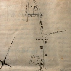 Map showing Ramsdean, allottees include Sir H Waddington, John Quantock, J.B.Carter, John Christmas